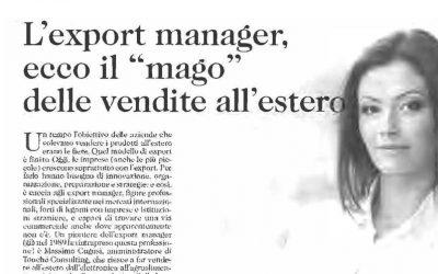 """L'export manager, ecco il """"mago"""" delle vendite all'estero"""